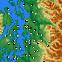 Nearby Forecast Locations - Bothell - Map