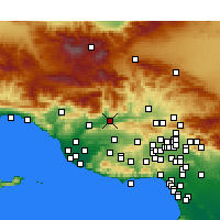 Nearby Forecast Locations - Fillmore - Map