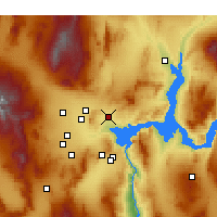 Nearby Forecast Locations - North Las Vegas - Map