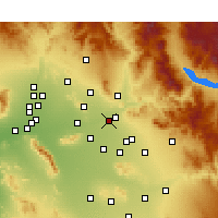 Nearby Forecast Locations - Scottsdale - Map