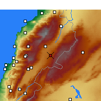 Nearby Forecast Locations - Baalbek - Map